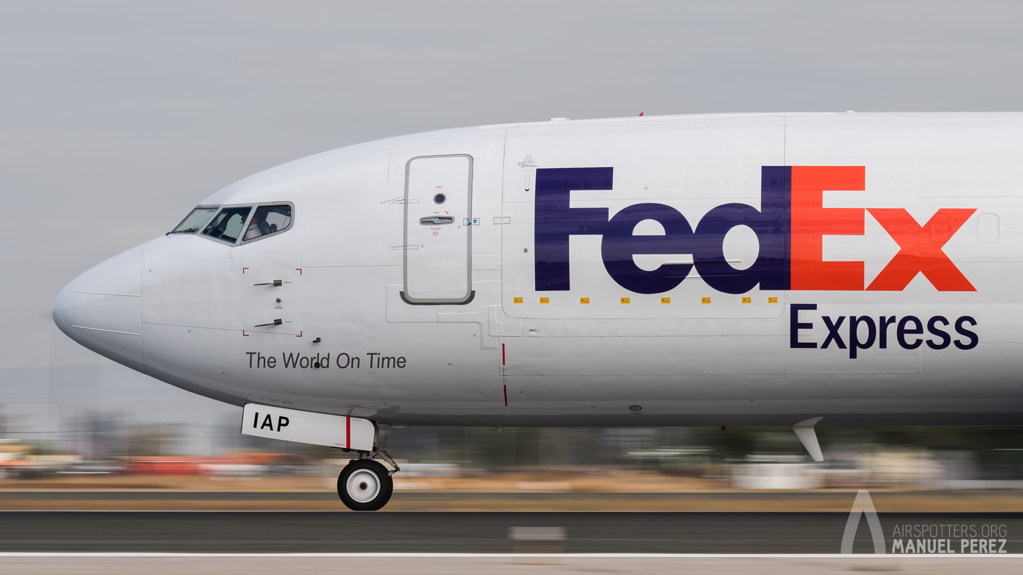 Spotting Day Sevilla. 737 Fedex